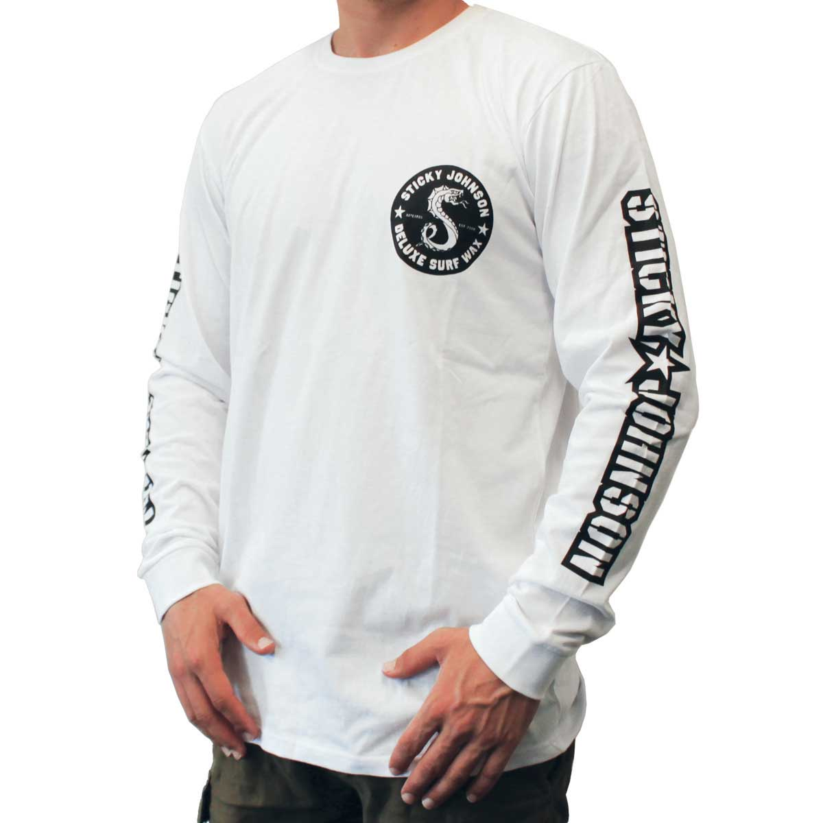 Sticky Johnson Serpent Long Sleeve T – White