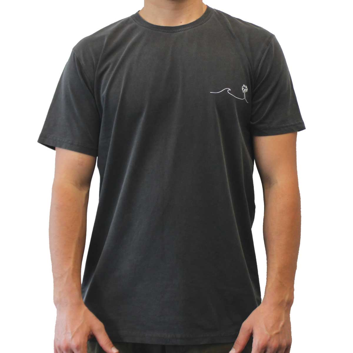 Palm Wave T-Shirt Charcoal