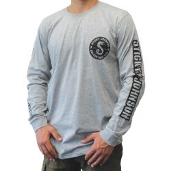 Sticky Johnson Serpent Long Sleeve T – Grey Marle