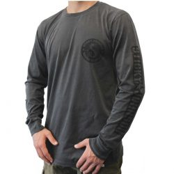 Sticky Johnson Serpent Long Sleeve T – Charcoal